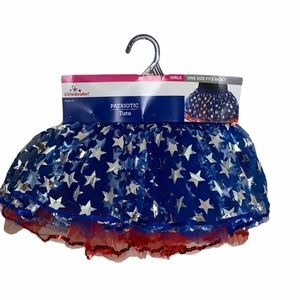 New Patriotic 5 Layers Tutu One Size Age 6